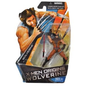 X-Men Origins Wolverine Comic シリーズ 4 インチ Tall Action フィギュア - WOLVERINE in ブラウン Sui