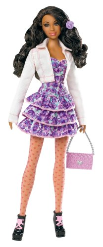 バービーBarbie Stardoll by Barbie Pretty in Pink African-American Doll - Mix and Match Trendy, Ori