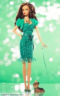 Birthstone Beauties Barbie バービー African-American Miss Emerald May L7576 人形 ドール