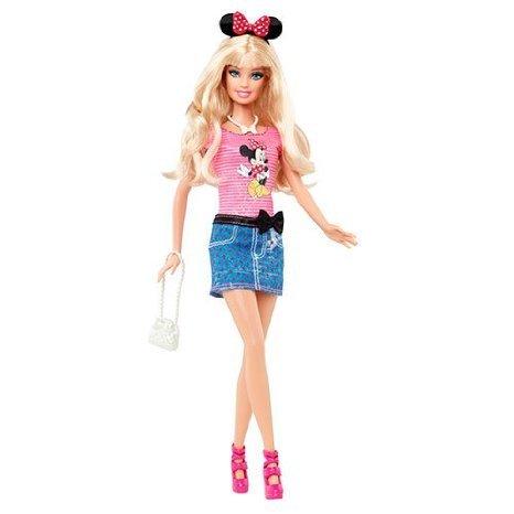 Barbie(バービー) Loves Minnie Mouse (ミニーマウス) Disney (ディズニー)Doll ドール 人形 フィギュア