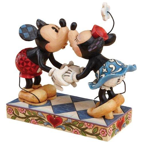 ディズニー トラディション Enesco Disney Traditions 置物 フィギュア ミッキー&ミニー キッシング Mic