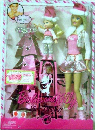 Barbie バービー and Kelly Pink Holiday Barbie バービー Dolls Set 人形 ドール