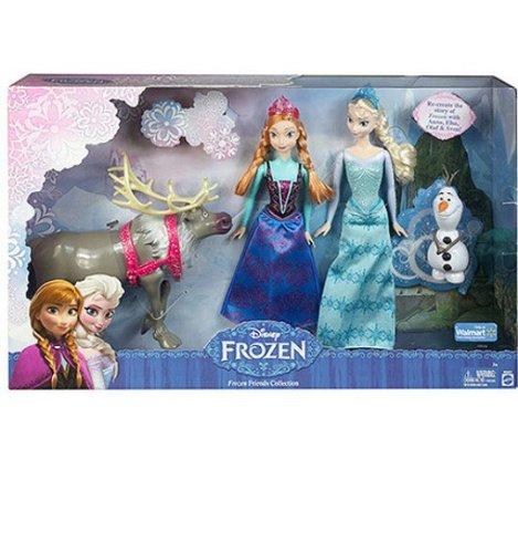 ディズニーフローズン限定 アナと雪の女王 人形セット アンナ&プリンセスエルザ&雪だるまオラフ&ス