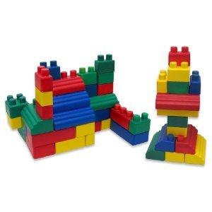 Edushape - ソフト フォーム ブロック - Mini Edu Soft and Flexible Blocks, Set of 52個 --