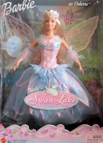 Swan Lake Barbie バービー Doll as ODETTE w Light Up Wings (2003) 人形 ドール