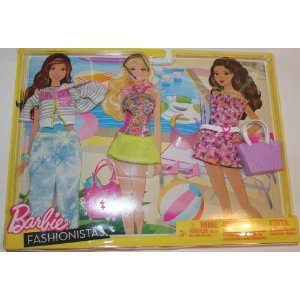 Barbie バービー Fashionistas Day Looks Clothes - Bright Beach Outfits