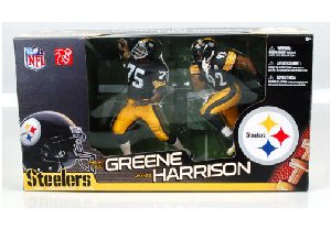 マクファーレントイズ NFL 2パック フィギュア/MEAN JOE GREENE & JAMES HARRISON/ピッツバーグ・スティ