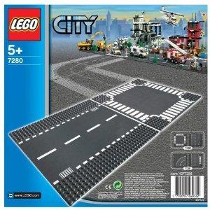 レゴ シティ ロードプレート 直線+交差点 2枚入り 7280
