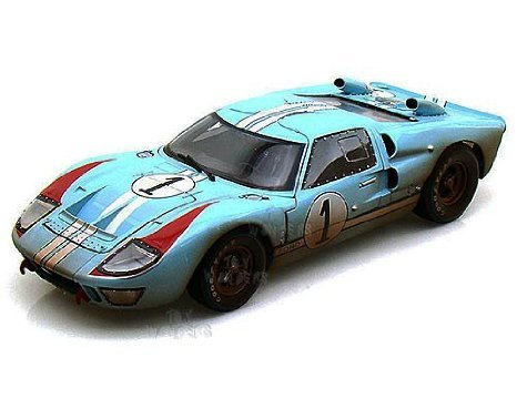 Shelby - Ford (フォード) GT-40 MK II Hard Top #1 w/ Dirt (1966, 1:18, Gulf Blue w/ White Stripes)