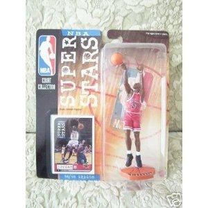 Mattel NBA Super スター Figure 1998-99 Edition - Michael Jordan (Red Chicago Bulls Jersey)