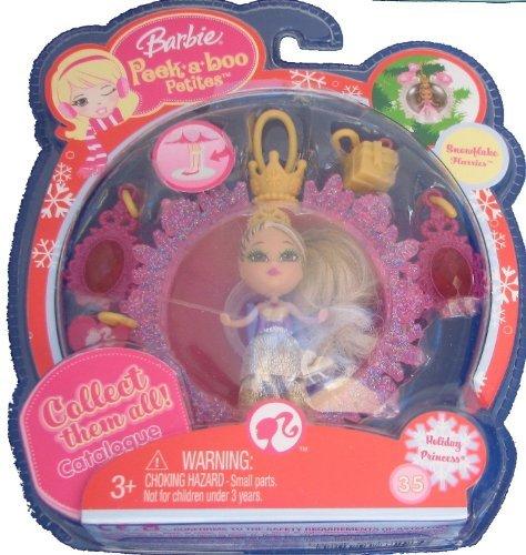 Barbie バービー Peek a Boo Petites Snowflake Flurries Holiday Princess #35 人形 ドール