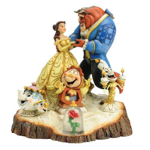 ディズニー トラディション 美女と野獣 Tale as Old asTime 木彫り調フィギュア