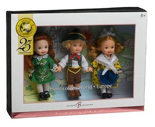 Barbie バービー Collector Pink Label - Dolls of the World - Kelly and Friends Gift Set - France, S