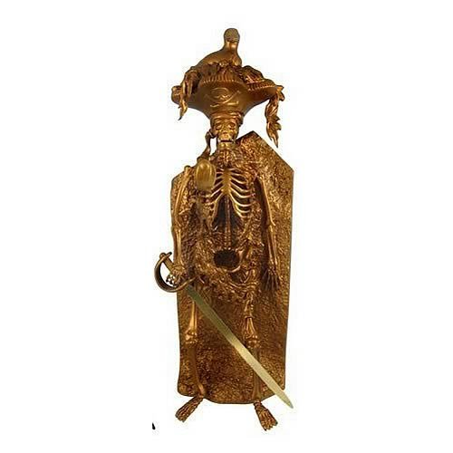 正規品販売! パイレーツオブカリビアン(ディズニーアトラクション版) Bird Gold Head Skeleton Gold Skeleton Statue, イワクラシ:ed1454a0 --- canoncity.azurewebsites.net