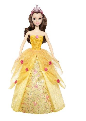 バービーDisney Princess 2-In-1 Ballgown Surprise Belle Doll W1138