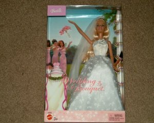 Barbie(バービー) Wedding Bouquet 2003 Edition Doll with White Wedding Dress with Cake ドール 人形