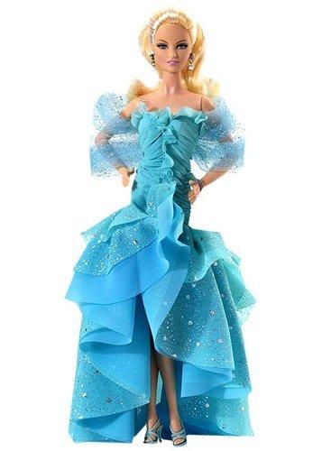Barbie バービー 流行のアイテム Collector's Edition - 高価値 Gown Blue ドール 人形