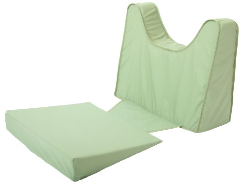 Leachco Back N Shape Adjustable Maternity Pillow Set, Sage マタニティ 看護 クッション