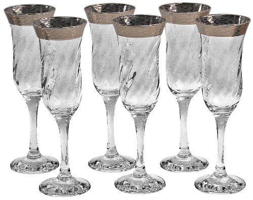 ボーダーステム フルートグラス (6個)