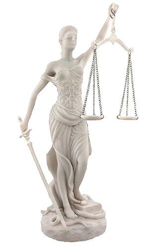 高さ約30cm 正義の女神 テミス 彫像;法律の正義を象徴する彫像/大理石風