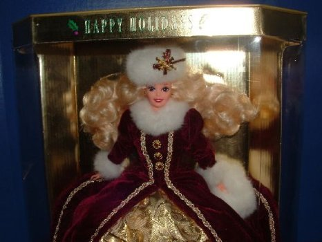 STUNNING, Happy Holidays Barbie(バービー) 1996 Christmas. Special Edition ドール 人形 フィギュア