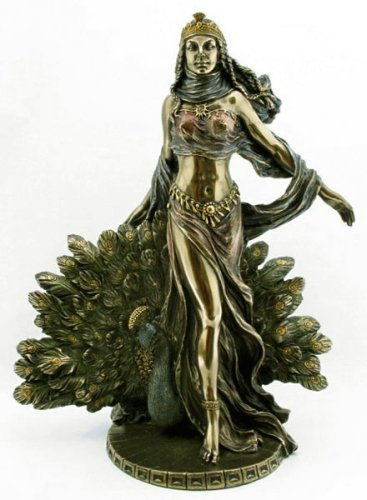 Hera & Peacock Statue Greek Mythology Magnificent Ships Immediatly !!、すぐヘラ&ピーコック像ギリ