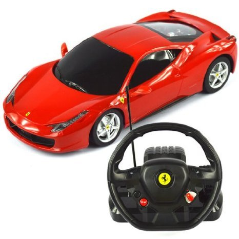 1:18 Scale Ferrari 458 Italia Model ラジコンカー With Steering controller (COLOR MAY VARY) おもち
