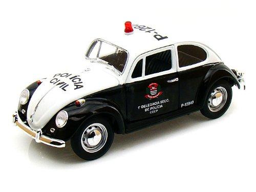1967 Volkswagen (フォルクスワーゲン) Beetles Sao Paulo Brazil Police 1/18 GL12853 ミニカー ダイキ