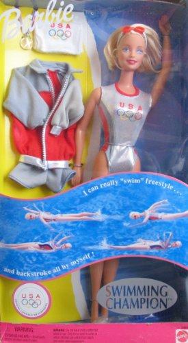 SWIMMING Champion Barbie バービー Doll REALLY SWIMS! U.S.A Olympics (1999) 人形 ドール