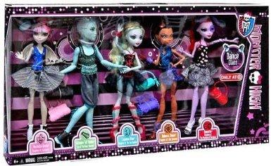 Monster High モンスターハイ Dance Class 5 Pack - Rochelle Goyle, Gil Webber, Robecca Steam, Lagoon