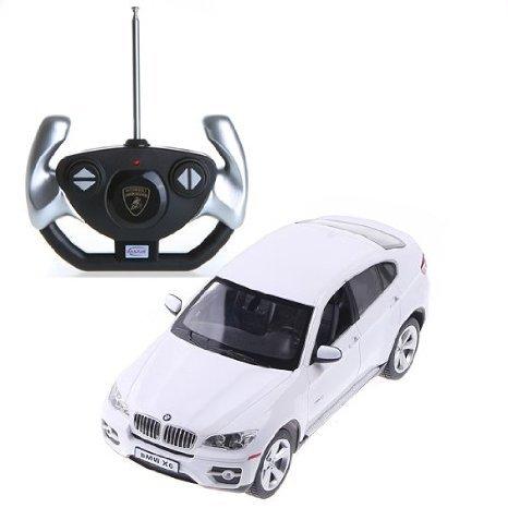 White Rastar 1:14 BMW X6 Car Model with Remote Control おもちゃ