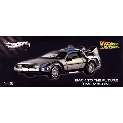 HOT WHEELS 1/43 Back to the future デロリアン