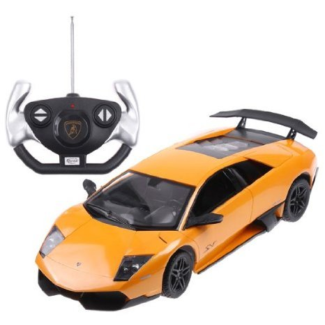 Yellow Rastar 1:14 Lamborghini Murcielago Car Model with Remote Control おもちゃ