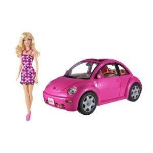 Barbie バービー Volkswagen New Beetle & Doll ドール Set