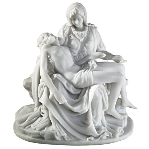 The Pieta (1499) Bonded Marble Medium Statueピエタ(1499)保税マーブルミディアム像