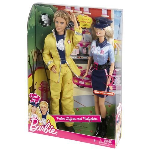 Barbie バービー I Can Be...Police Officer and Firefighter 人形 ドール