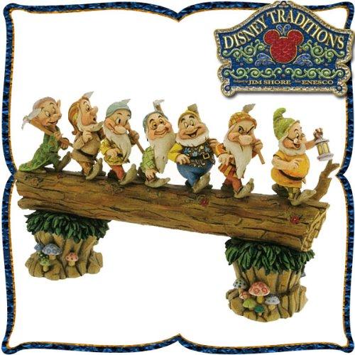 木彫り調フィギュア 七人の小人 「家路への行進」 <白雪姫> Homeward Bound ディズニー・トラディショ
