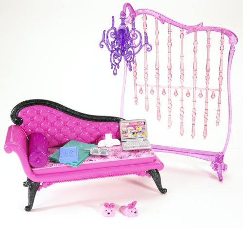 バービー ピンクだいすきベーシック家具シリーズ ピンクだいすき バービーのソファ N4899