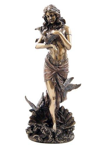 鳩に囲まれた貝殻の上のアフロディーテ 愛の女神ビーナス (ヴィーナス)