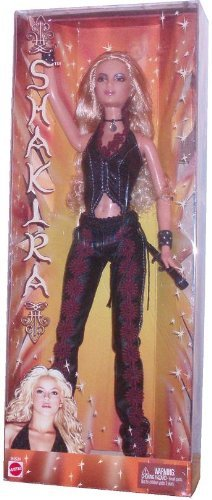 Barbie バービー Year 2002 International Superstar 12 Inch Doll - Shakira in Black Leather Outfit w