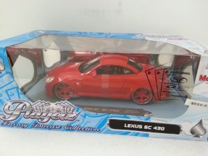 Playerz Luxury ダイキャスト コレクション - Red Lexus (レクサス) SC 430 1/18 ミニカー ダイキャスト