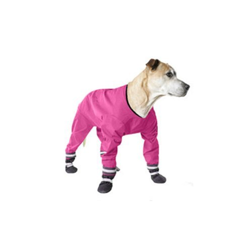 Muttluks 4-Legged Dog Jog Rain Suit Size 14 Pink