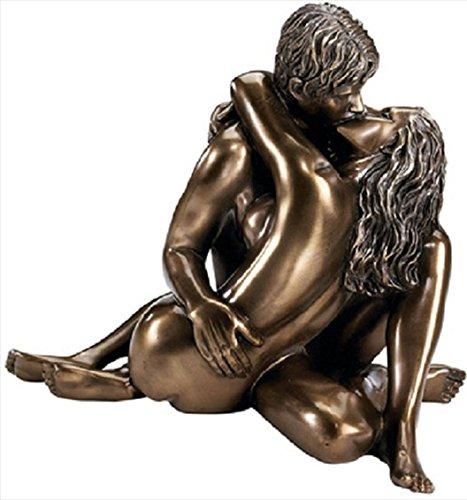 ブロンズ風仕上げ 恋人達の彫刻/ Enraptured in Love Nude Lovers Romantic Bronze Desktop Table Sculpt