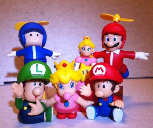 【ビーピー】Super Mario スーパーマリオ Cute Charcter 6pcs Set フィギュア 人形 おもちゃ