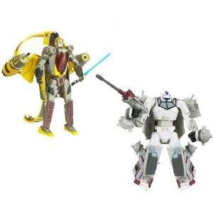 Star Wars Transformers Crossovers Blockbuster 2 パック 7 インチ Tall フィギュア Set - Anakin Skywa