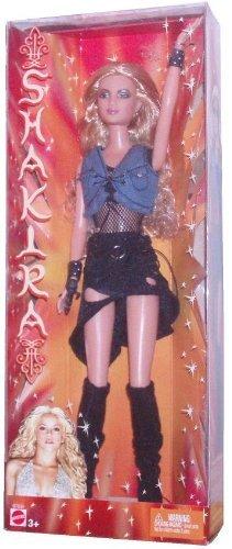 Barbie バービー Year 2003 International Superstar 12 Inch Doll - Shakira in Denim Top and Black Mi