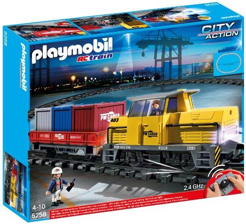 PLAY MOBIL 5258 プレイモービル RC貨物列車 LEDライト&サウンド