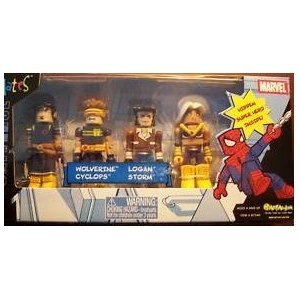 Marvel Universe Minimates X-Men Pack: Wolverine, Logan, Cyclops, Storm, and ボーナス Hidden スーパ