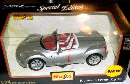 Maisto マイスト Plymouth Pronto Spyder Silver Convertible 1:24 スケール Diecast Metal with Plastic