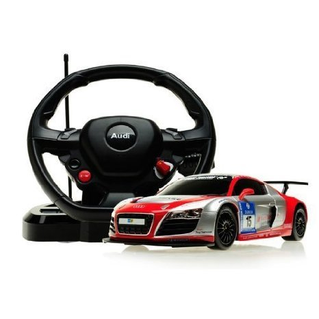 1:18 Scale Audi R8 LMS Performance Model ラジコンカー With Steering Controller (COLOR: SILVER/RED)